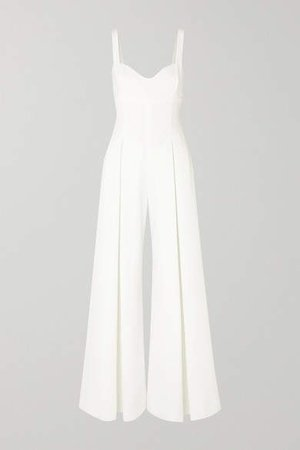 Ellen Cloque Jumpsuit - White