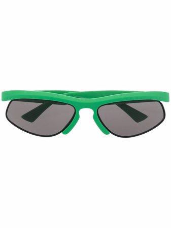 Bottega Veneta Eyewear half-frame Oval Sunglasses - Farfetch