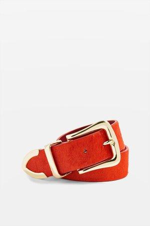 topshop-Red-Classic-Pony-Hair-Belt.jpeg (2040×3060)
