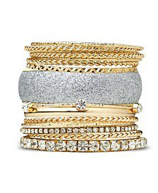 GUESS Textured Bangle Bracelet Set & Reviews - Bracelets - Jewelry & Watches - Macy's