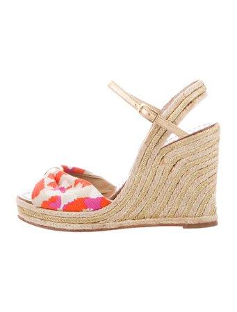 Kate Spade New York Printed Wedge Sandals - Shoes - WKA111500   The RealReal