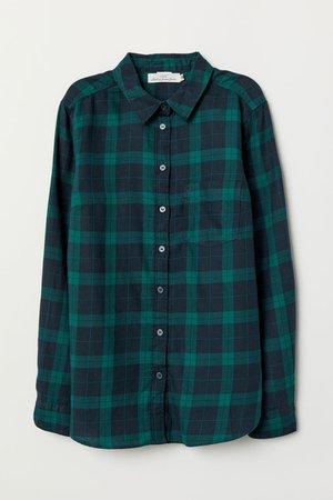 Plaid Shirt - Green/checked - Ladies   H&M US