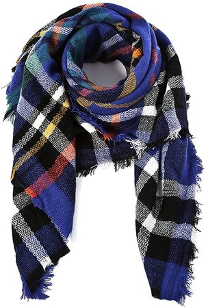 Large Tartan Fashion Women Scarf Lovely Best Gift Scarf Wrap Shawl Orange at Amazon Women's Clothing store