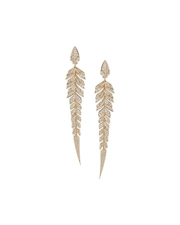 Stephen Webster Magnipheasant Diamond Pave Earrings in 18k Rose Gold | Neiman Marcus