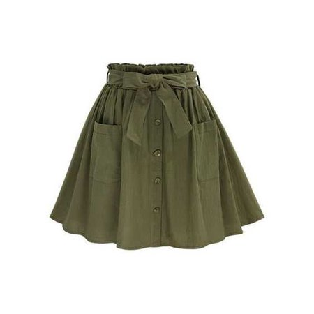 olive green skirt with pockets
