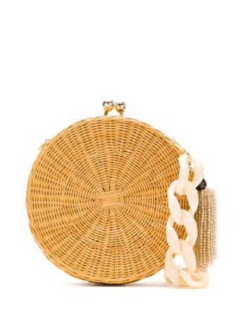 Serpui Circle wicker bag