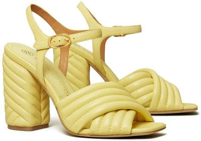 Kira Quilted High-Heel Sandal