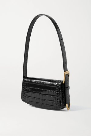 Black Ghost croc-effect leather shoulder bag | Balenciaga | NET-A-PORTER