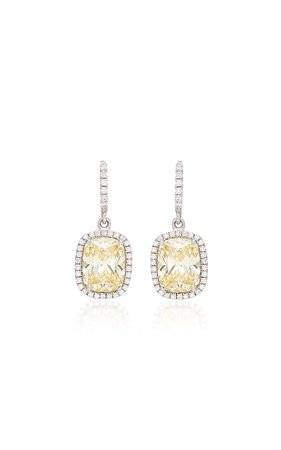 18K White Gold, Sapphire, And Diamond Earrings by Anabela Chan | Moda Operandi