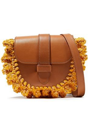 Knotted crochet-paneled leather shoulder bag | M MISSONI | Sale up to 70% off | THE OUTNET