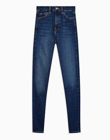 Topshop Tall Jamie skinny jean in rich blue | ASOS