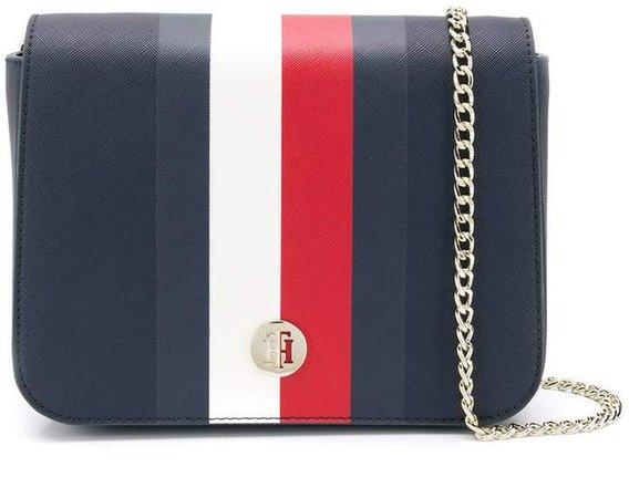 contrast stripe crossbody bag