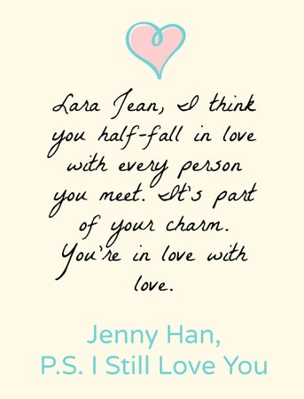 lara jean quote - Google Search