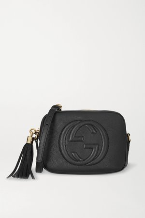 Black Soho Disco textured-leather shoulder bag | Gucci | NET-A-PORTER