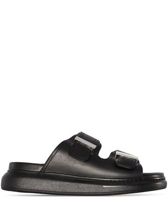 Shop black Alexander McQueen Hybrid leather sandals with Express Delivery - Farfetch