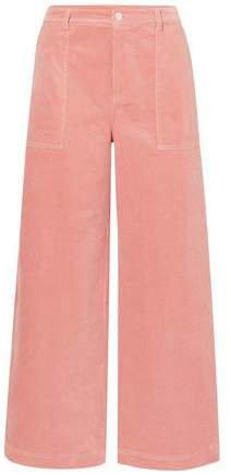 Cotton-blend Corduroy Wide-leg Pants