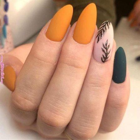 48 Creative Winter Nail Design Ideas This Season | Nails Art | Orange nails, Winter nails, Almond nails « Girl Recital