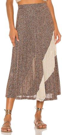 Tyra Pleat Panelled Skirt
