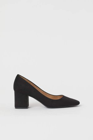 Block-heeled Pumps - Black