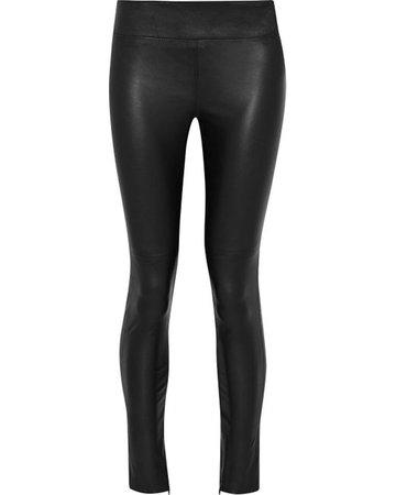 Lyst - Iris & Ink Daryl Leather Leggings in Black