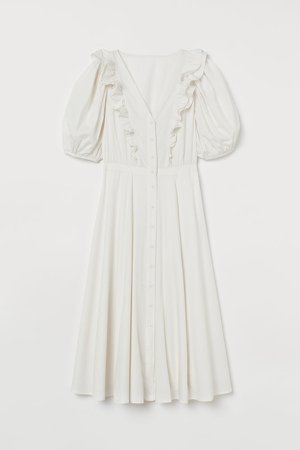 Lyocell-blend Dress - White