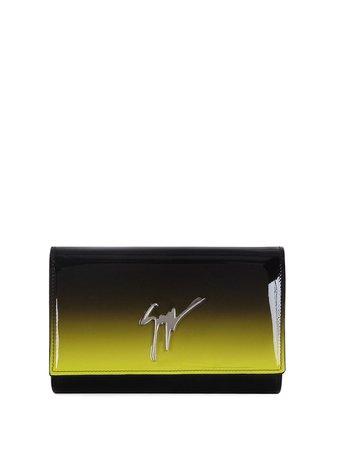 Giuseppe Zanotti Fluida logo clutch yellow & black EB10005002 - Farfetch