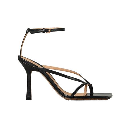 JESSICABUURMAN – KALEB Ankle Strap Leather High Heel Flip Flop Sandals - 9cm