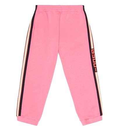 Gucci Kids - Striped cotton track pants   Mytheresa