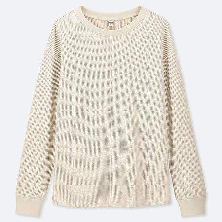 Women's Waffle Crewneck Long-sleeve T-Shirt