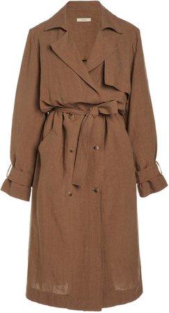 Matin Linen Trench Coat