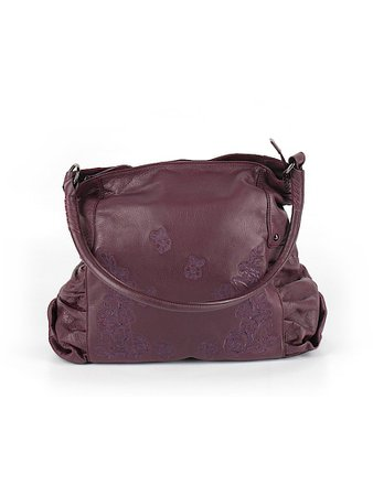 Fiore by Isabella Fiore Maroon Purple Leather Shoulder Bag One Size - 79% off | thredUP