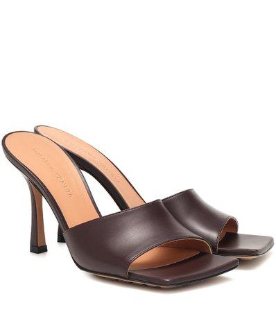 Bottega Veneta - Leather sandals   Mytheresa