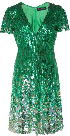 Fifi Sequined Tulle Fit-And-Flare Dress