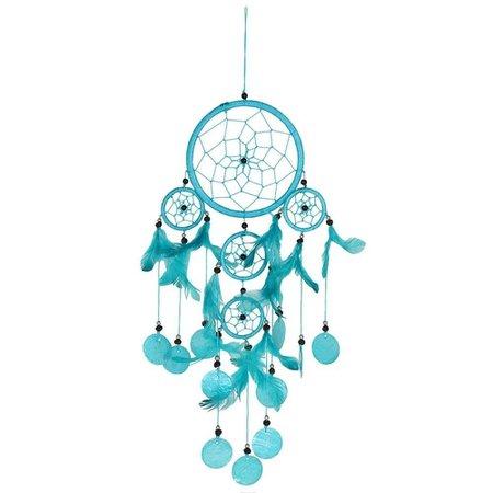 Bright Turquoise Dreamcatcher — GOLDENHANDS