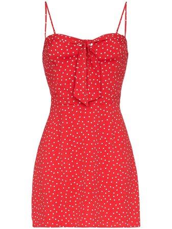 Reformation polka-dot Mini Dress - Farfetch