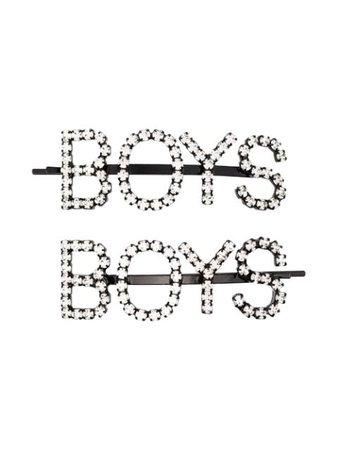 Metallic Ashley Williams Crystal Boys Hair Pins | Farfetch.com
