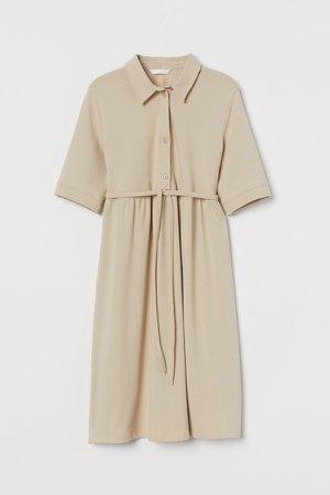 MAMA Pique Dress - Beige