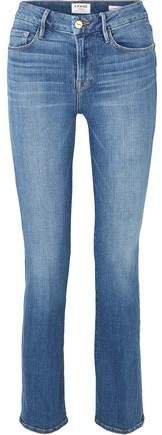 Le Mini Boot Faded Mid-rise Slim-leg Jeans