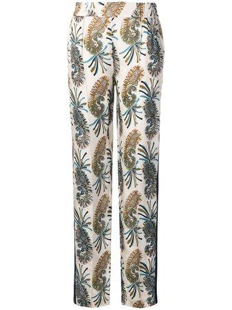 Etro Paisley Print Trousers - Farfetch