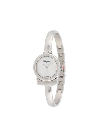 Shop silver Salvatore Ferragamo Watches Gancini 22mm bangle watch with Express Delivery - Farfetch