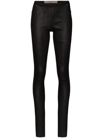 Rick Owens mid-rise Leather Leggings - Farfetch