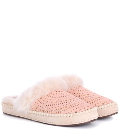 Aira Sunshine suede slippers