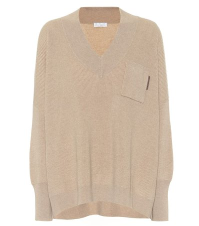 Brunello Cucinelli, Embellished cashmere sweater