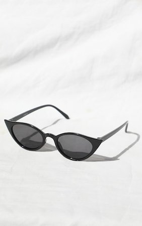 Black Cat Eye Sunglasses   Accessories   PrettyLittleThing