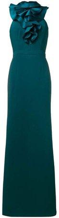 Ashley ruffle-neck bodycon dress