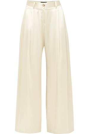 Nili Lotan | Brixton silk-satin wide-leg pants | NET-A-PORTER.COM