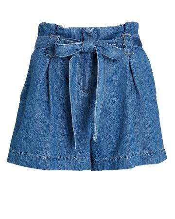 L'Agence Hillary Paperbag Denim Shorts   INTERMIX®