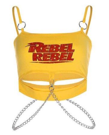 rebel rebel yellow crop top