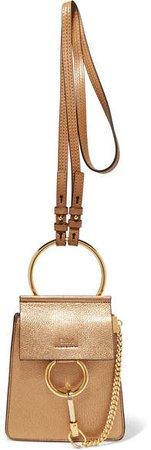 Faye Bracelet Metallic Textured-leather Shoulder Bag - Gold