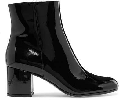 Margaux 65 Patent-leather Ankle Boots - Black